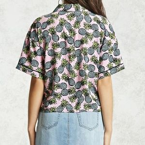 Forever 21 Pajama-Inspired Pineapple Shirt